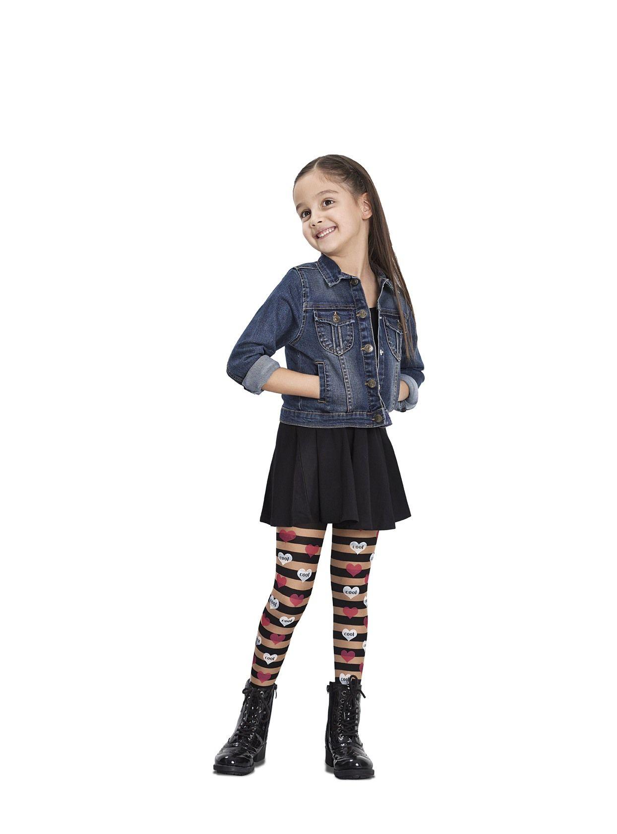 Kids Amp Baby Girls Tights Hearts Printed Fashion